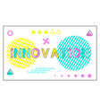 innovation poster geometric figures in linear vector image vector image