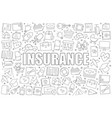 insurance background from line icon vector image vector image