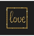 Love card Modern brush calligraphy vector image vector image
