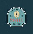 modern vintage coffee shop label vector image