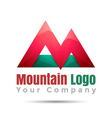 Mountain adventure Volume Logo Colorful 3d Design vector image vector image