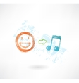 music equals good mood grunge icon vector image vector image