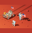 people on mars composition vector image vector image