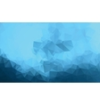 Polygonal blue background Low poly style vector image vector image