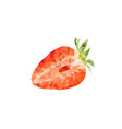 polygonal strawberry vector image vector image