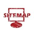 Red grunge sitemap logo