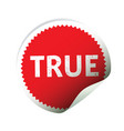 red sticker and text hope vector image vector image