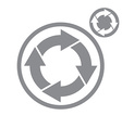 Reload refresh arrows loop simple single color vector image