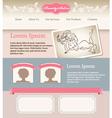 Retro feminine template for web site vector image vector image