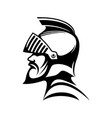 roman warrior in helmet isolated medieval spartan vector image