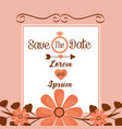 save the date card vintage flower invitation vector image vector image