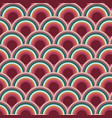 scallop scale circle seamless repeat pattern vector image vector image