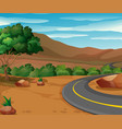 scene with road to the countryside vector image vector image