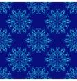 Seamless Mandala Pattern over blue vector image vector image