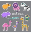 Set African animals vector image vector image