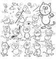 set hand drawn cats vector image