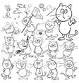 Set of hand drawn cats vector image