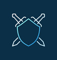 shield with crossed swords concept outline vector image