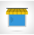 Showcase with awning icon vector image vector image