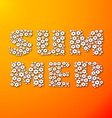 Summer lettering made of paper flowers vector image