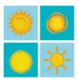Summer sun design vector image vector image