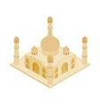 Taj Mahal in India icon isometric 3d style vector image