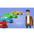 Used cars reselling concept with hands holding vector image vector image