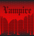 vampire background vector image vector image