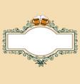 vintage beer frame vector image vector image