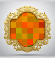 vintage classic frame with colorful checkered vector image vector image