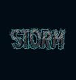 vintage storm inscription template vector image vector image