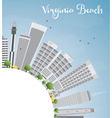 virginia beach skyline with gray buildings