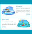 water sport pages collection vector image