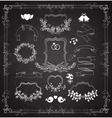 Wedding graphic set with wreaths and ribbons vector image vector image