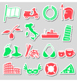 italy country theme various stickers set eps10 vector image