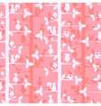 Seammles pattern with trees and forest animals vector image