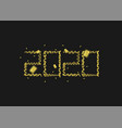 2020 golden numbers vector image vector image