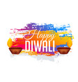 abstract diwali gestival background with colorful vector image vector image