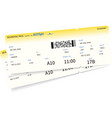 airplane ticket template vector image vector image