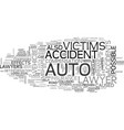 auto accident lawyer text word cloud concept vector image vector image