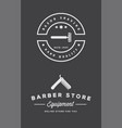 barbershop or hairdressing salon set of vector image vector image