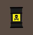 barrel icon with a chemical substance vector image vector image