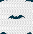 bat icon sign Seamless pattern with geometric vector image