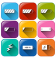 Battery icons vector image vector image
