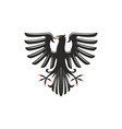 black eagle heraldry symbol isolated bird mascot vector image vector image
