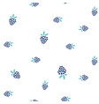 blackberry seamless simple pattern on white vector image