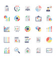 business charts and diagrams colored icons 2 vector image