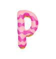 cartoon cookies font letter baking in vector image vector image