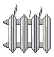 cast-iron battery icon cartoon style vector image vector image