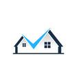 check house logo icon design vector image vector image